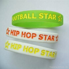 silicone printing bracelets