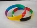 分段色硅膠手環