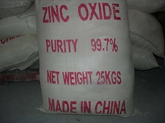 supply quality  Zinc Oxide (99.0%~99.7%)