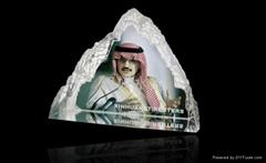 水晶三角屏风