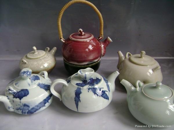 Fine china tea pot coffee set porcelain tableware 2
