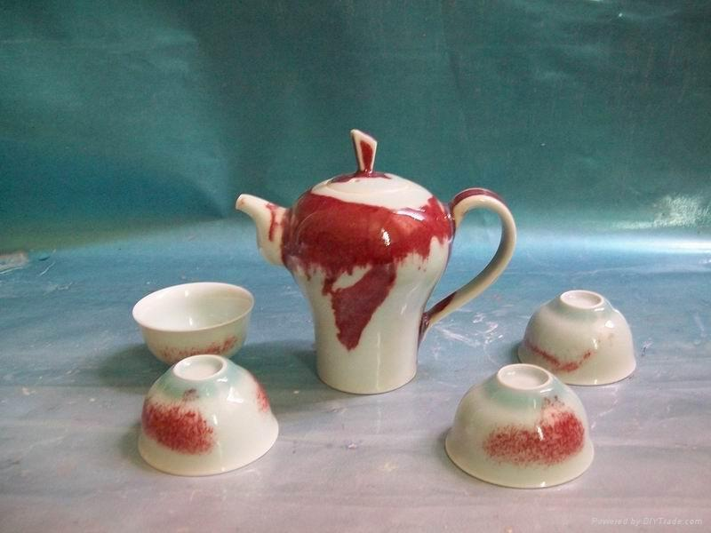 Fine china cermaic tea pot  porcelain tableware gift home supply 3