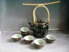 Fine china tea pot porcelain drinkware arts tableware gift