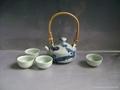 Fine china tea pot porcelain drinkware arts tableware gift 2