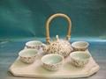 Fine china tea pot porcelain drinkware arts tableware gift 4
