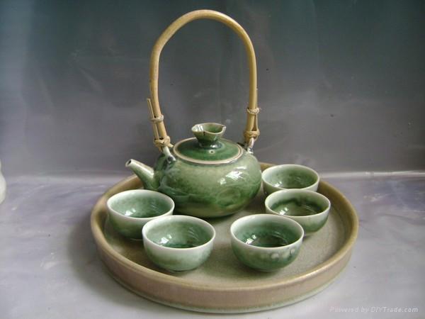 Fine China Tea Pot Porcelain Drinkware Arts Tableware Gift   TP .