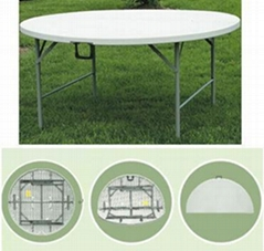 "60"" Round Fold-in-half Table"