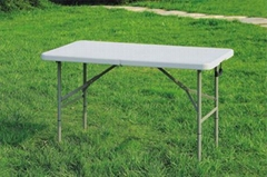 4FT Plastic Fold in half Table