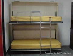 B090-wall bunk bed