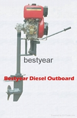 Diesel outboard engines for boats