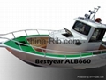 Aluminum pilot house fishing boat:ALB680