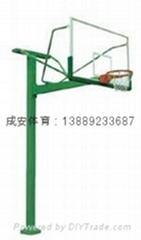 方管地埋式篮球架