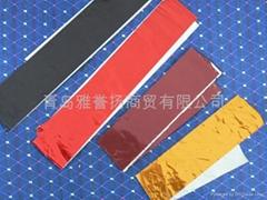 染色鋁箔及鋁箔切片