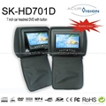 Headrest Monitor DVD with hidden USB port