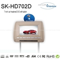 7''  slot-in Headrest DVD/USB/SD/IR/FM transmitter and Game Function (Hot Product - 1*)
