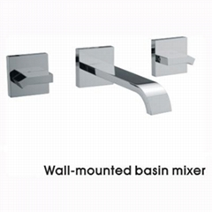 Two Handles In-Wall Basin Mixer(F04M4)