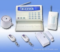 Intelligent GSM Home Alarm System With LCD Color Display