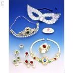 Plastic plated gold or silver  jewellery set