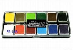 Shining Art 水性基本(12色)人体彩绘凝彩颜料