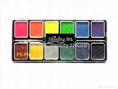 Shining Art 12色水性珠光、夜光人体彩绘颜料