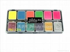 Shining Art 油性珠光、夜光(12色)人体彩绘颜料