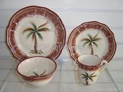 16pcs earthenware dinnerware