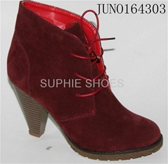 Fashion design popular high heel Lady shoe Ankle boots