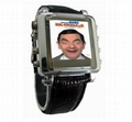 MP4 Watch Player 1.5inch OLED Screen,Leather Band