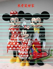 米奇老鼠,卡通人偶服裝.卡通行走人偶,卡通道具,卡通服飾