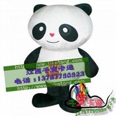 卡通行走人偶大熊貓,國寶熊貓人偶服裝,熊貓大俠卡通服飾