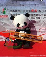 熊猫人偶服饰,卡通动漫服装,卡通人偶道具,卡通行走人偶,