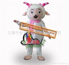 喜羊羊和灰及狼卡通人偶,卡通道具,卡通影视道具舞台表演服装