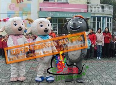 喜羊羊和灰及狼卡通人偶,卡通道具,卡通影视道具舞台表演服装 2
