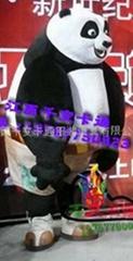 功夫熊猫 卡通行走人偶 卡通表演道具