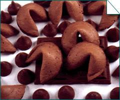 巧克力签语饼