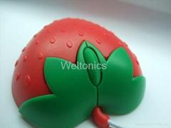 草莓水果光電鼠標
