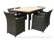 Resin wicker table set