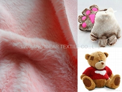 100%Polyester Super Soft Short Plush for Toys/Blankets/Winter Gloves