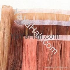 Human Hair Skin weft