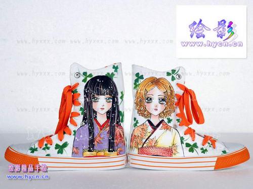 日本女孩(時尚手繪鞋)