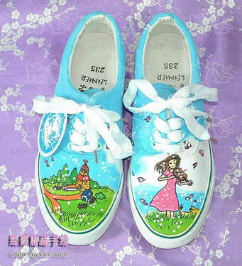canvas shoes images. hand-painted canvas shoes