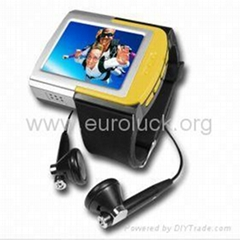 free-shipping 2GB Sporty MP4 Watch Player- 1.8 Inch TFT Screen