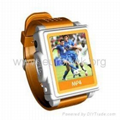 2GB 1.5 inch Screen Watch Mp4 Player  (Orange) not free shipping