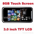 free-shipping+3.0 inch Touch Screen MP4 MP5 Player 8GB