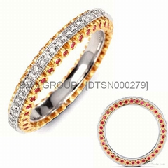 Gold & Silver Plated Eternity Rings