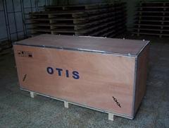 钢带箱/钢带胶合板免熏蒸包装箱/镀锌钢带包装箱