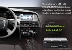 car dvd and gps for audi a6 a8 q7