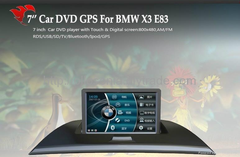 car dvd player with gps for BMW X3 E83