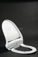 Auto-washing toilet seat/toilet cover
