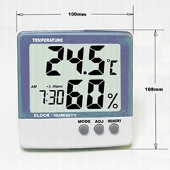 Digital thermometer & Hygrometer with clock